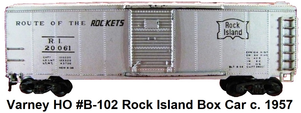 Varney HO scale Rock Island Route of the Rockets 40' Box Car #20061
