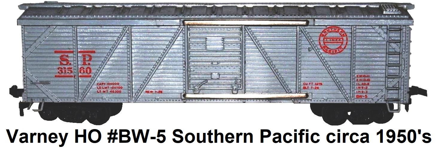 Varney HO scale #2465P Southern Pacific #31560 Outside Braced Wood Box Car