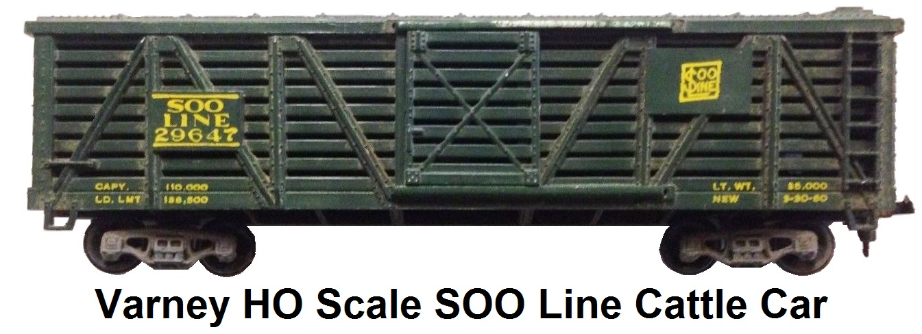 Varney HO scale Soo Line Cattle Stock Car #29647
