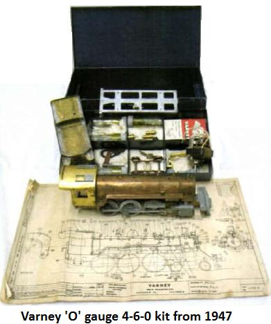 Varney 'O' gauge 4-6-0 kit from 1947