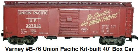 Varney #1721 Union Pacific 307014 Metal body #1 Box Car