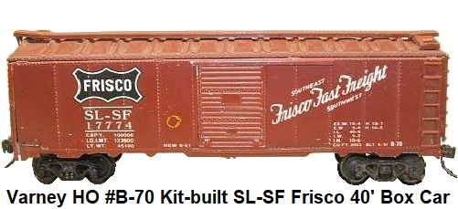 Varney HO Metal SL-SF Frisco Box Car #17774