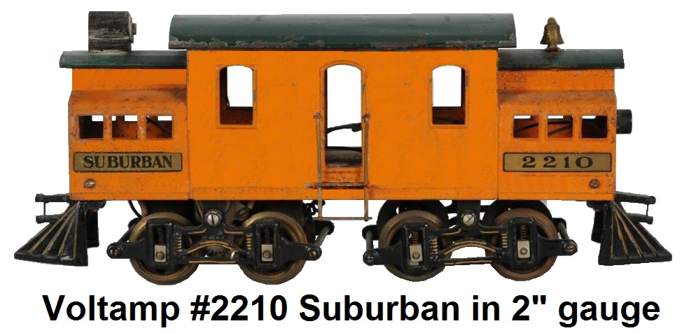 A Voltamp #2210 NYC Suburban in 2 inch gauge