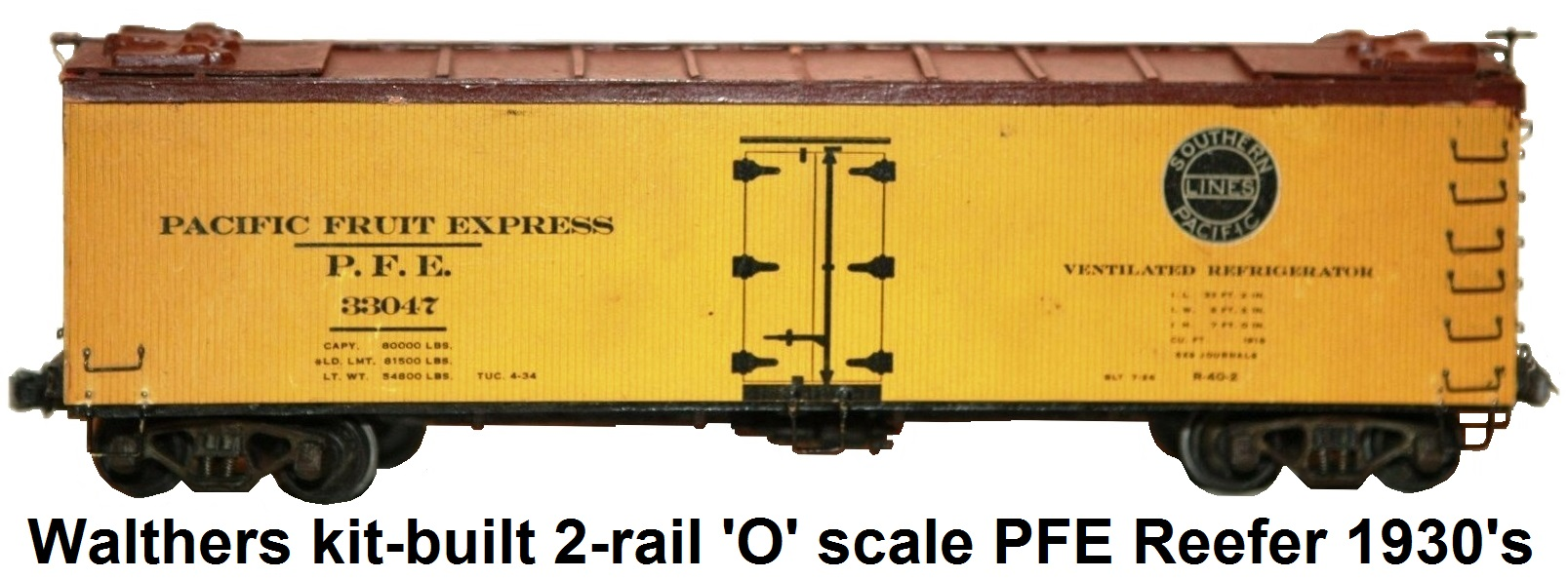 William K Walthers Trains Model Railroad Electronic Circuit Lists O Scale Pacific Fruit Express 33047 Reefer 1930s Era Kit Built