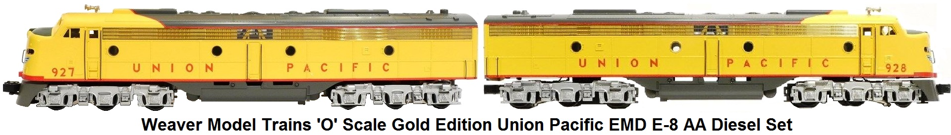 Weaver 'O' scale Gold Edition Union Pacific EMD E-8 AA Diesel Set