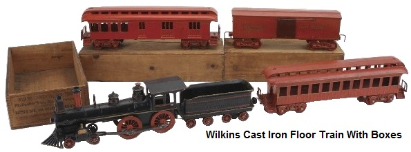 Wilkins Cast Iron Floor Train with boxes