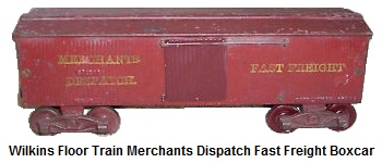 Wilkins Cast Iron Floor Train Merchants Dispatch Fast Freight Boxcar
