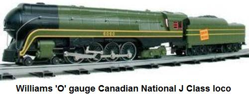 Williams 'O' gauge Canadian National J Class Steam locomotive