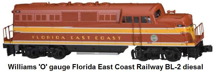 Williams 'O' gauge Florida East Coast BL-2 diesal locomotive