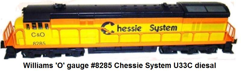 Williams 'O' gauge U33C Scale Chessie System Diesel Engine #8285
